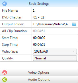 Set DVD Options
