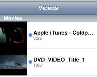 Converted video in iPhone