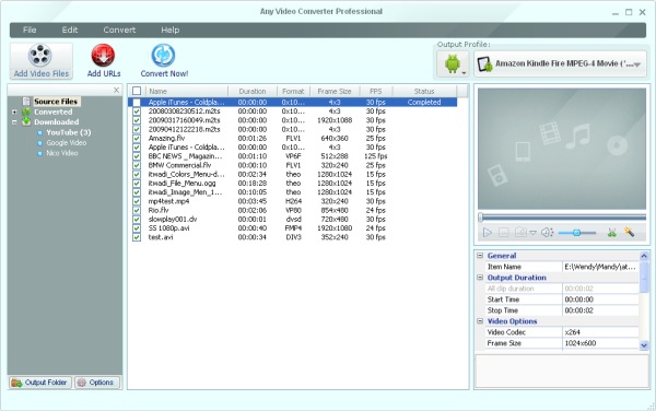 Main Window of WebM to WMV converter