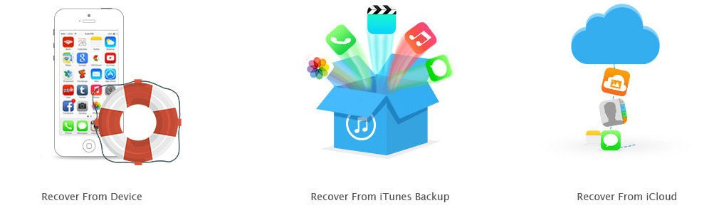 three recovery modes for recovering iPhone data