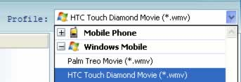 Windows Mobile Video Converter, video to HTC Touch Diamond